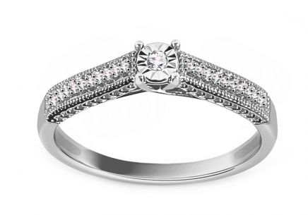 White Gold Engagement Ring with Diamonds 0.080 ct Armandy
