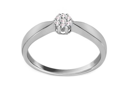 White Gold Engagement Ring with Diamonds 0.080 ct Jariah
