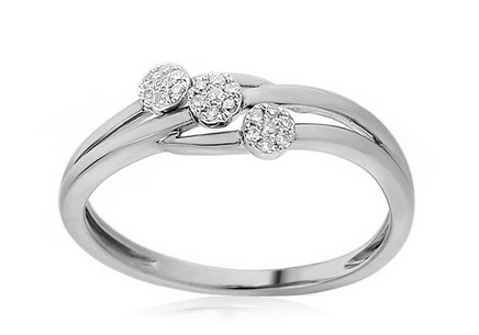 White Gold Engagement Ring with Diamonds 0.080 ct Sommer