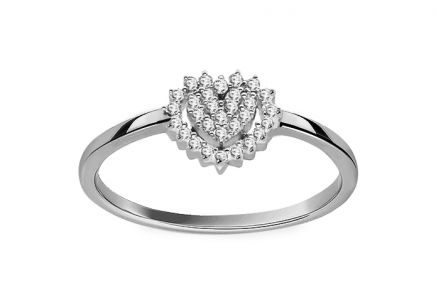"White Gold Engagement Ring with Diamonds 0.100 ct ""Caitlyn"""