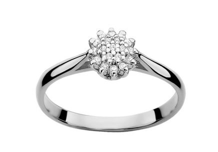 White Gold Engagement Ring with Diamonds 0.100 ct Darian