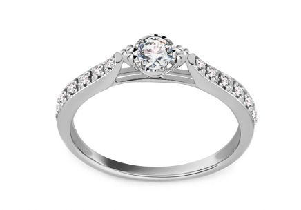 White Gold Engagement Ring with Diamonds 0.220 ct Candance