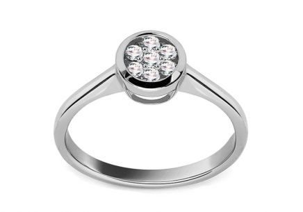 White Gold Engagement Ring with Diamonds 0.250 ct Maude