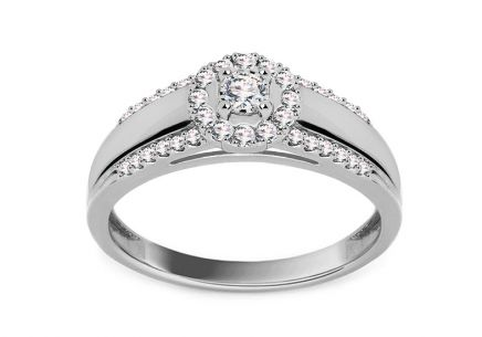 White Gold Engagement Ring with Diamonds 0.250 ct Tailyn 2