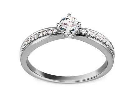 White Gold Engagement Ring with Diamonds 0.420 ct Deina