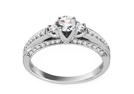 White Gold Engagement Ring with Diamonds 0.500 ct Idette