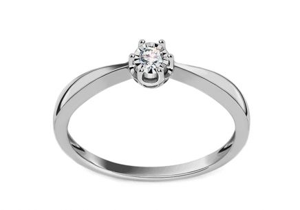 Wynon 0.050 ct white gold diamond engagement ring