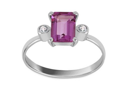 Engagement Ring with Amethyst Jeanetta
