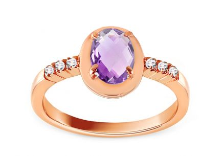 Engagement Ring with Amethyst Lealia