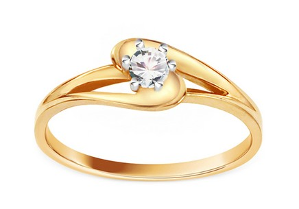 Engagement Ring with Zircon Pretty