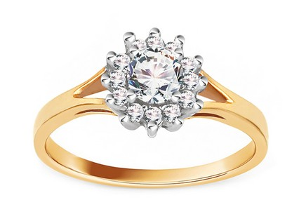 Gold Engagement Ring Princess 6