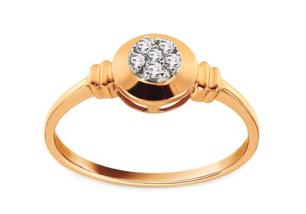 Gold Engagement Ring with Diamonds 0.060 ct Marcy