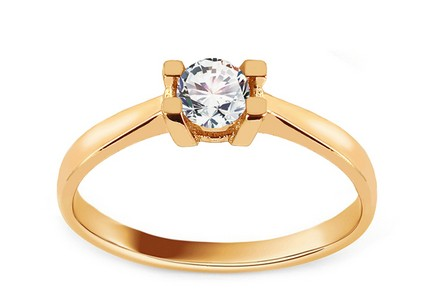 Gold Engagement Ring with Zircon Beatrisa