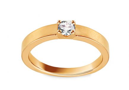 Gold Engagement Ring with Zircon Damalis