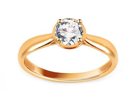 Gold Engagement Ring with Zircon Mandisa