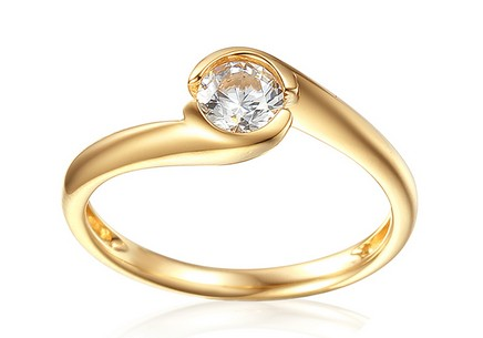 Gold Engagement Ring with Zircon Mariyah