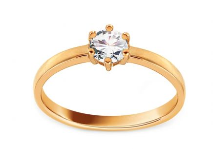 Gold Engagement Ring with Zircon Rosella 2