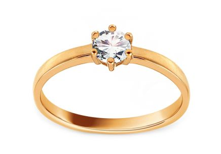 Gold Engagement Ring with Zircon Rosella 3