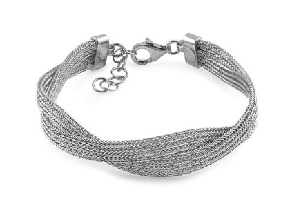 Entwined Sterling Silver Bracelet - IS449