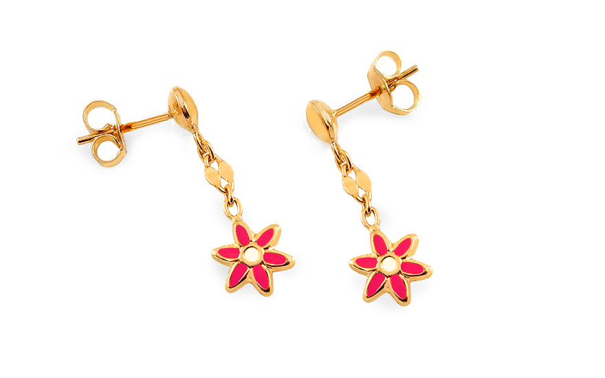 sparkling girl earrings jewelry product baby gold buy kids clover shop for
