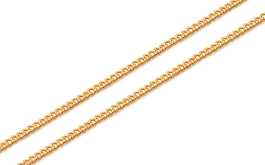 Gold curb chain 1.4 mm - IZ12813