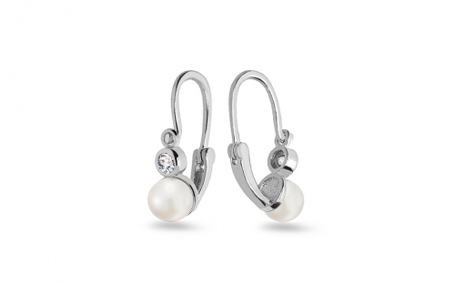 God Earrings - Pearl