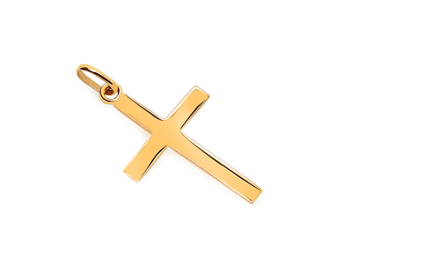 Gold Cross Pendant - IZ14022