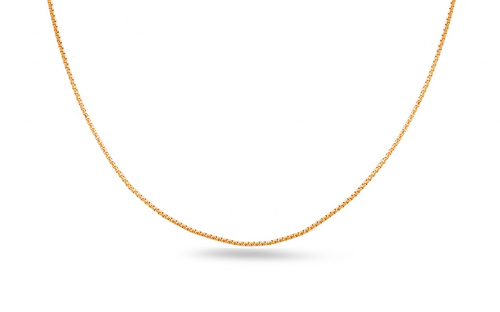 Gold cube chain - 0.8 mm Cube - IZ11227