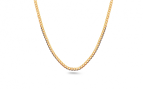 Gold curb chain 1.5 mm - IZ12981