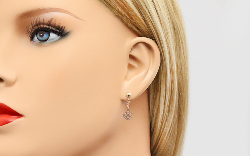 Girl´s gold earrings - IZ5391