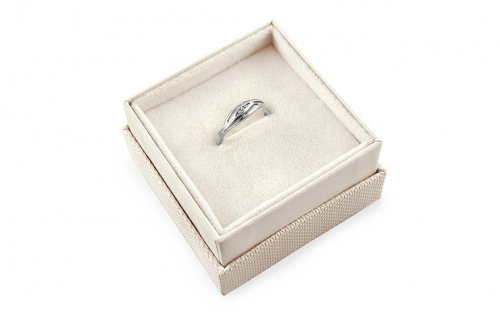 Gold Engagement Ring Barbara 3 - CSRI1001A - in a box