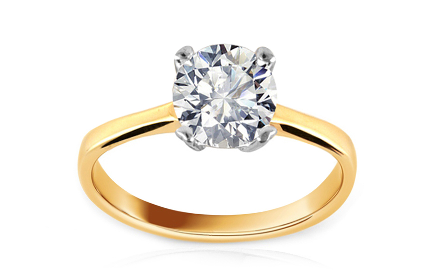 Gold Engagement Ring Daria - IZ8796