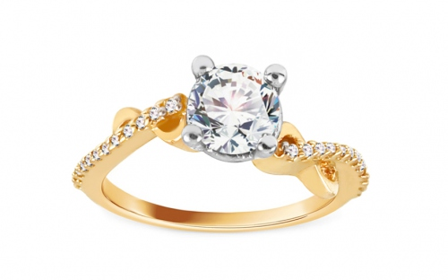 Gold Engagement Ring Isarel 20 - CSRI804