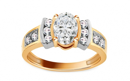 Gold Engagement Ring Isarel 21 - CSRI734