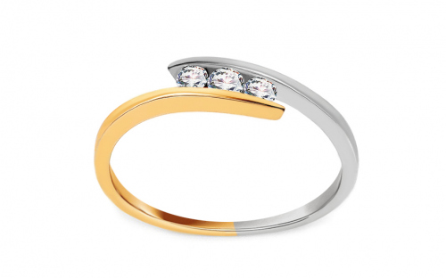 Gold Engagement Ring Pretty 7 - CSRI1040
