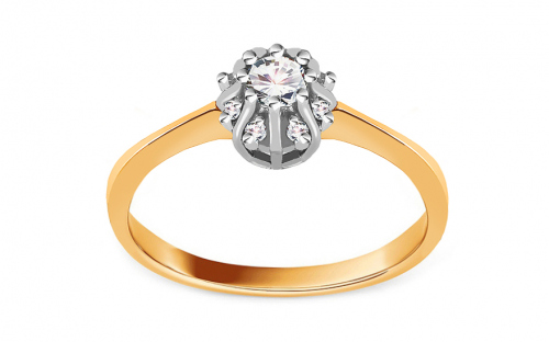 Gold Engagement Ring Princess 14 - CSRI2056