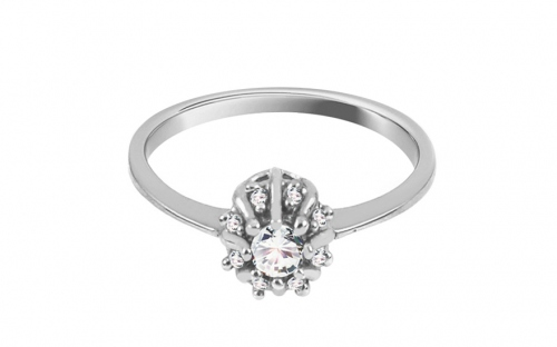 Gold Engagement Ring Princess 14 - CSRI2056A