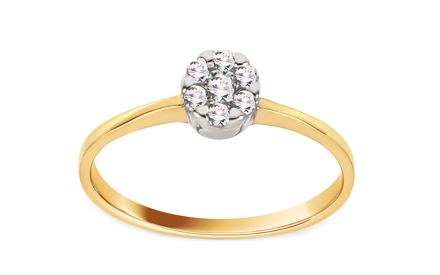 Gold Engagement Ring Princess 16 - CSRI2053