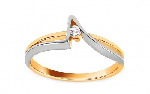 Gold Engagement Ring Ramona 2 - CSRI01