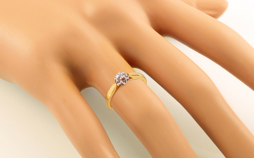 Gold Engagement Ring Ramona 6 - CSRI928 - on a mannequin