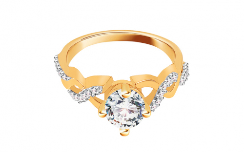 Gold Engagement Ring Tresses - CSRI816