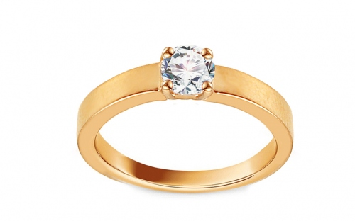 Gold Engagement Ring with Zircon Adaliz - IZ13298