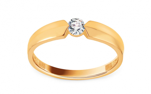 Gold Engagement Ring with Zircon Aletha 2 - IZ13042B