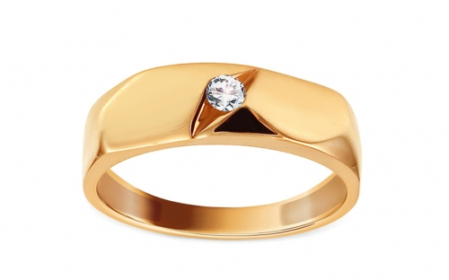Gold Engagement Ring with Zircon - IZ13322