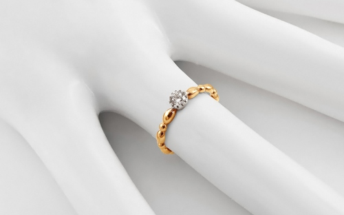 Gold Engagement Ring with Zircon Avril - IZ13320