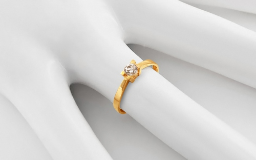 Gold Engagement Ring with Zircon Lorretta - IZ13697