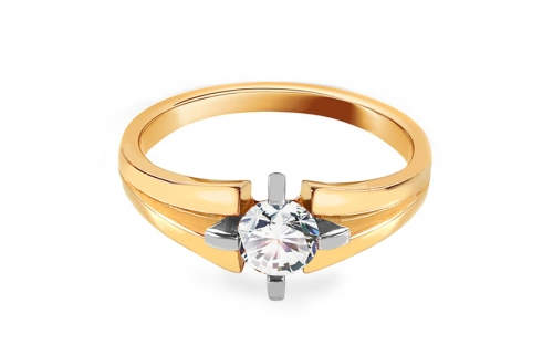 Gold Engagement Ring with Zircon Naila - CSRI1455