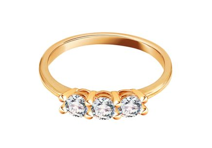 Gold Engagement Ring with Zircons Pallas - IZ14216