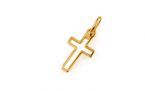 Gold Engraved Cross Pendant - IZ3650Y