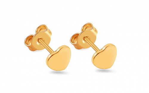 Gold Girls Earrings HEART - IZ5313